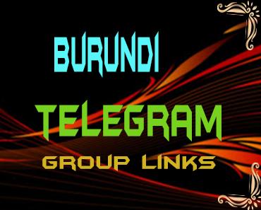 Burundi Telegram Group links list