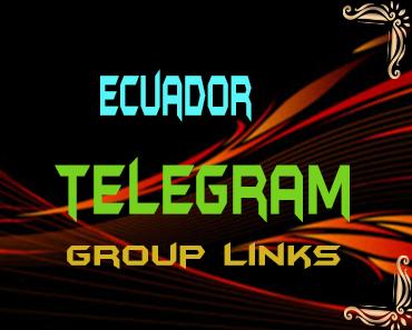 Ecuador Telegram Group links list