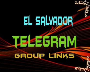 El Salvador Telegram Group links list