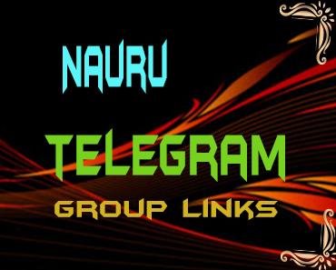 Nauru Telegram Group links list