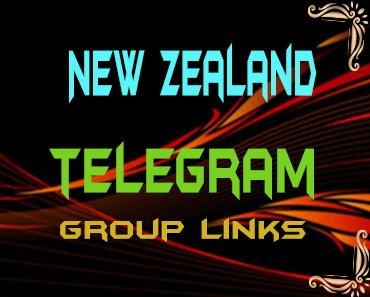 New Zealand Telegram Group links list