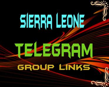 Sierra Leone Telegram Group links list