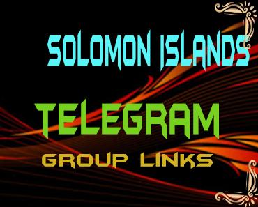 Solomon Islands Telegram Group links list