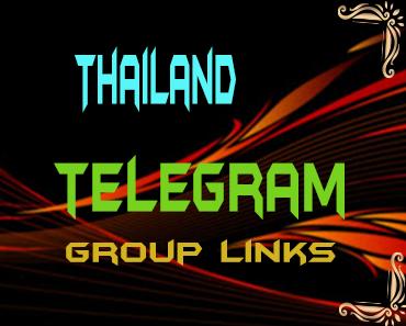Thailand Telegram Group links list